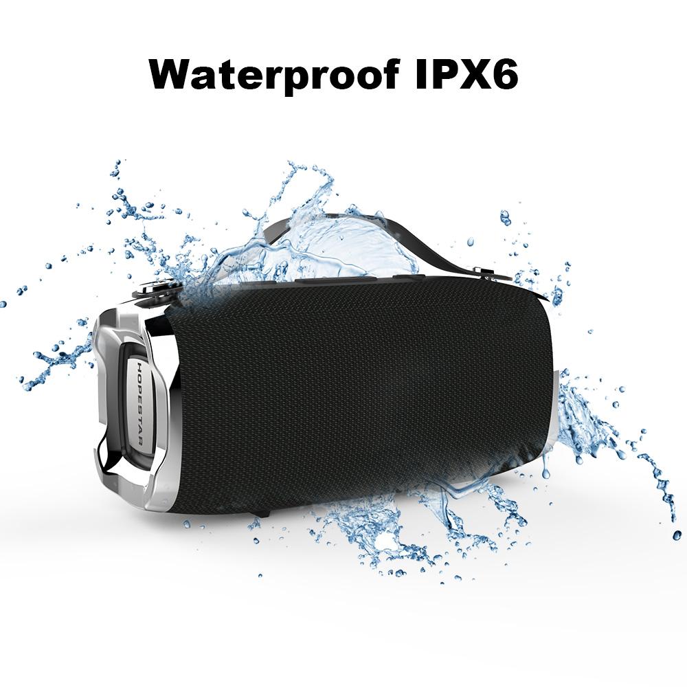 Hopestar H36 Portable Bluetooth Speaker Dual Units IPX6 Waterproof TF Card FM Radio Bass Speaker