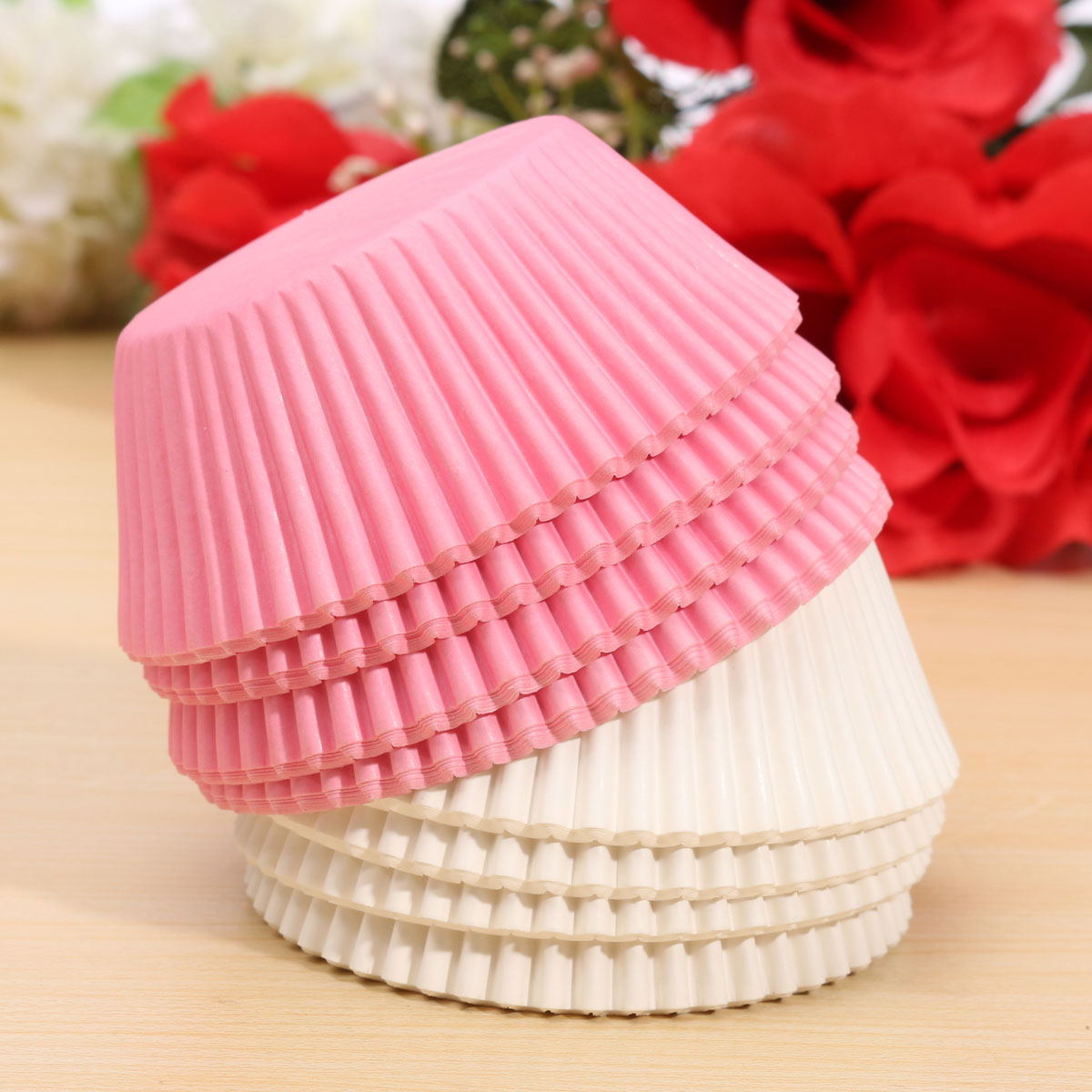 100pcs Cake Cup Wedding Party Cake Baking Mold Muffin Dessert Baking Cup