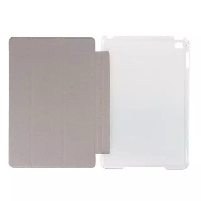 Fashion PU Leather Clear Transparent Smart Back Case For iPad Mini 4
