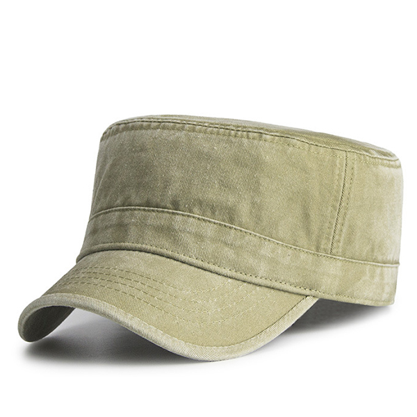 Mens Vintage Washed Cotton Military Baseball Cap