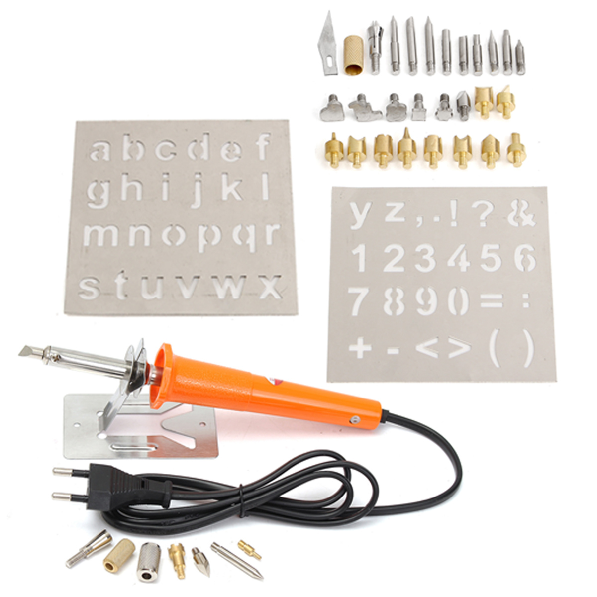 37Pcs 110V Wood Burning Pen with Extra Tips and Stencils Deluxe Craft and Hobby Kit