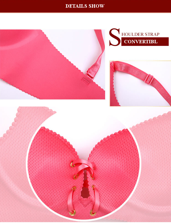 Front Lacing Seamfree Push Up Smooth Wireless Adjustable Breathable Gather Bras