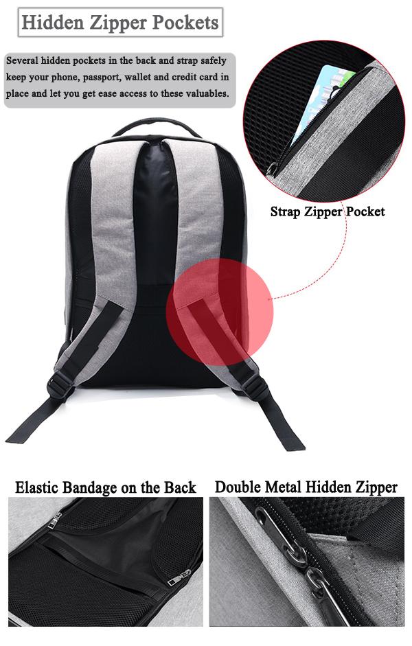 Ekphero® Men Anti Theft Backpack Waterproof Travel Bag