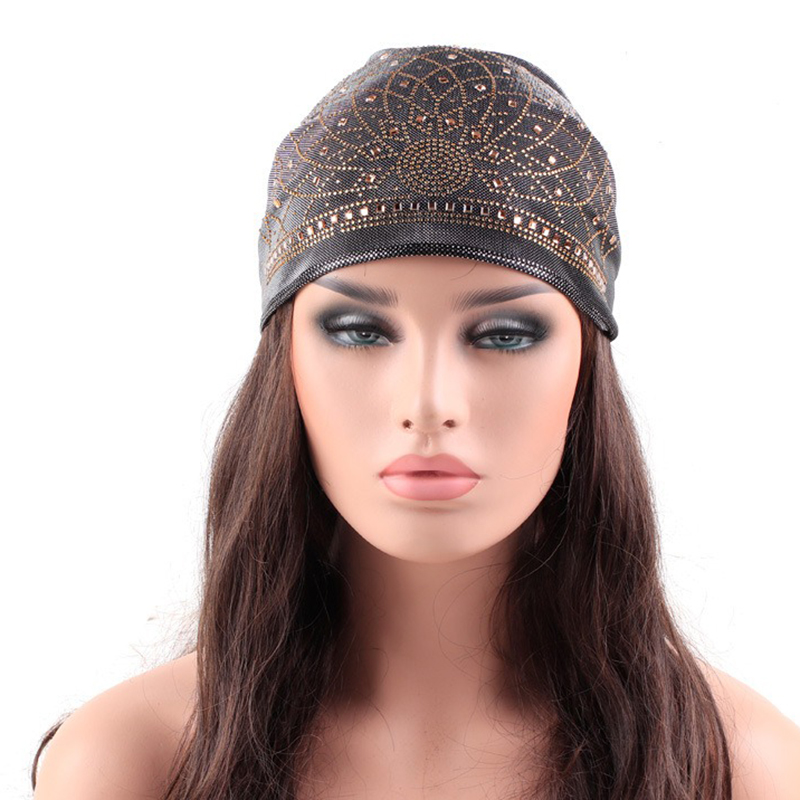 Ethnic Style Breathable Side Flower Turban Cap