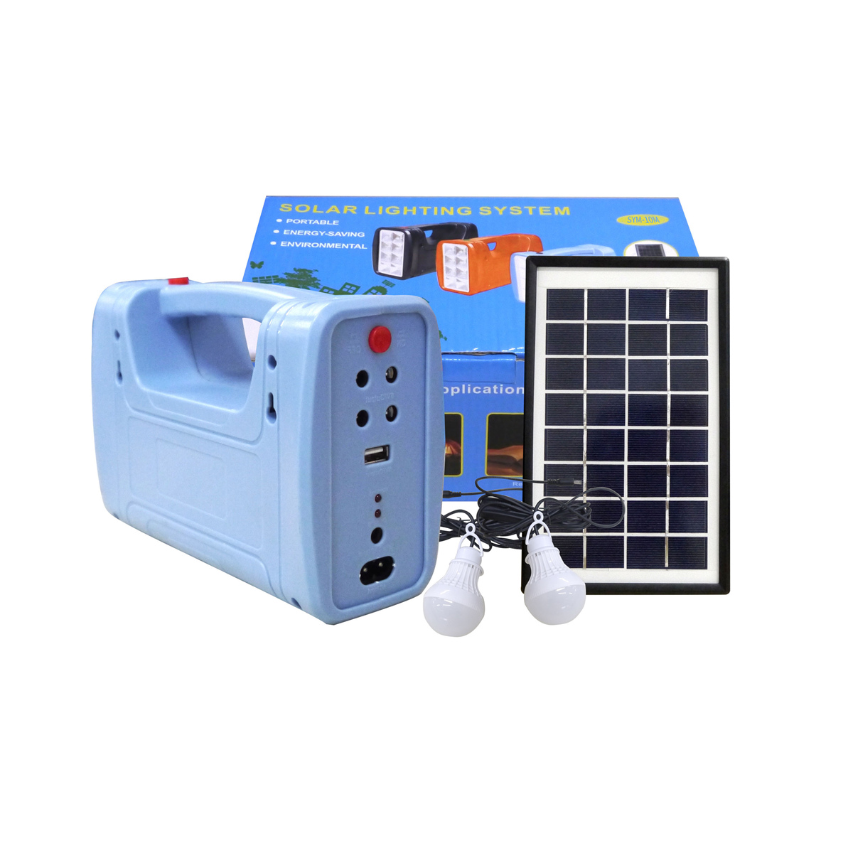 5W Solar Panel Portable Solar AC Kit Solar Power System Camping Portable Generator With Bulbs