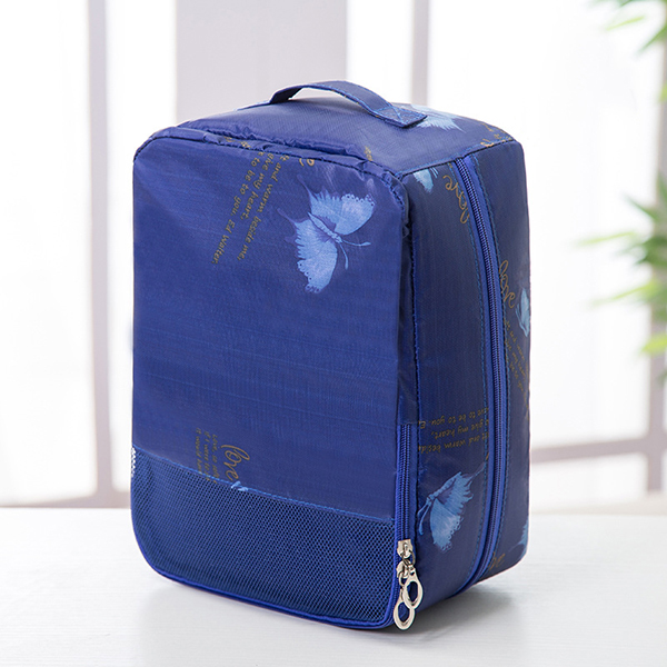 Waterproof Nylon Print Shoes Storage Bags Portable Travel Ba