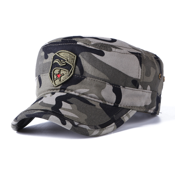 Mens Winter Cotton Camouflage Military Flat Hats