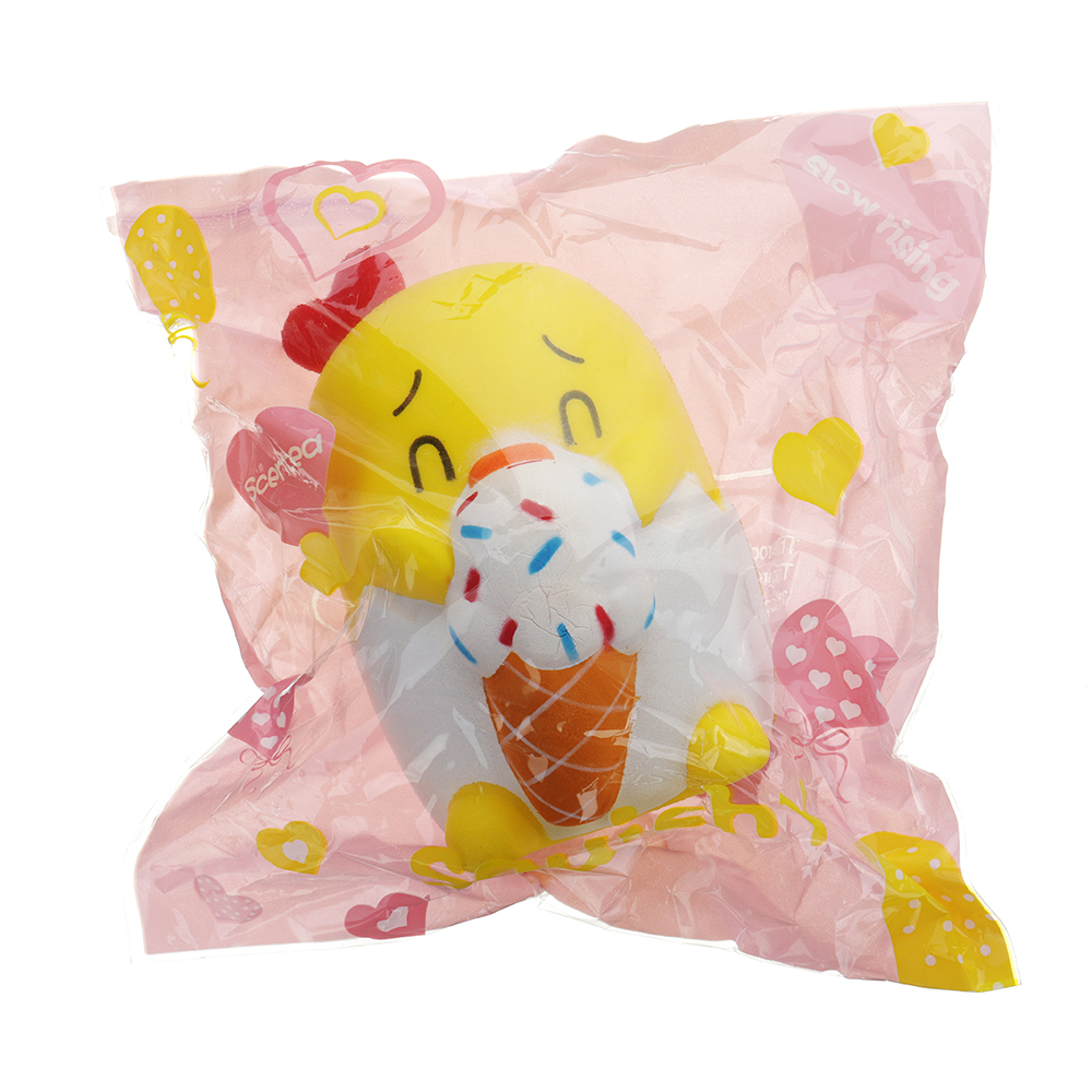 Cartoon Chick Squishy 12*8.5CM Slow Rising With Packaging Collection Gift Soft Toy