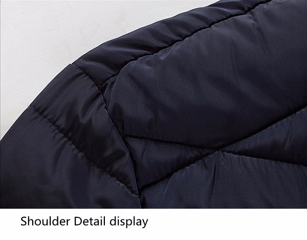 Mens Plus Size S-6XL Winter Warm Zipper Stand Collar Padded Jacket