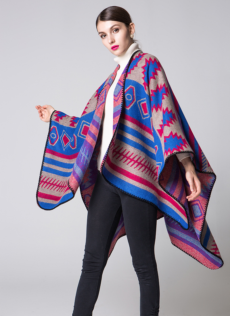Honana WX-19 Geometric Puzzle Cloak European Indian Style Fashion Air Conditioning Shawl Travel Blanket