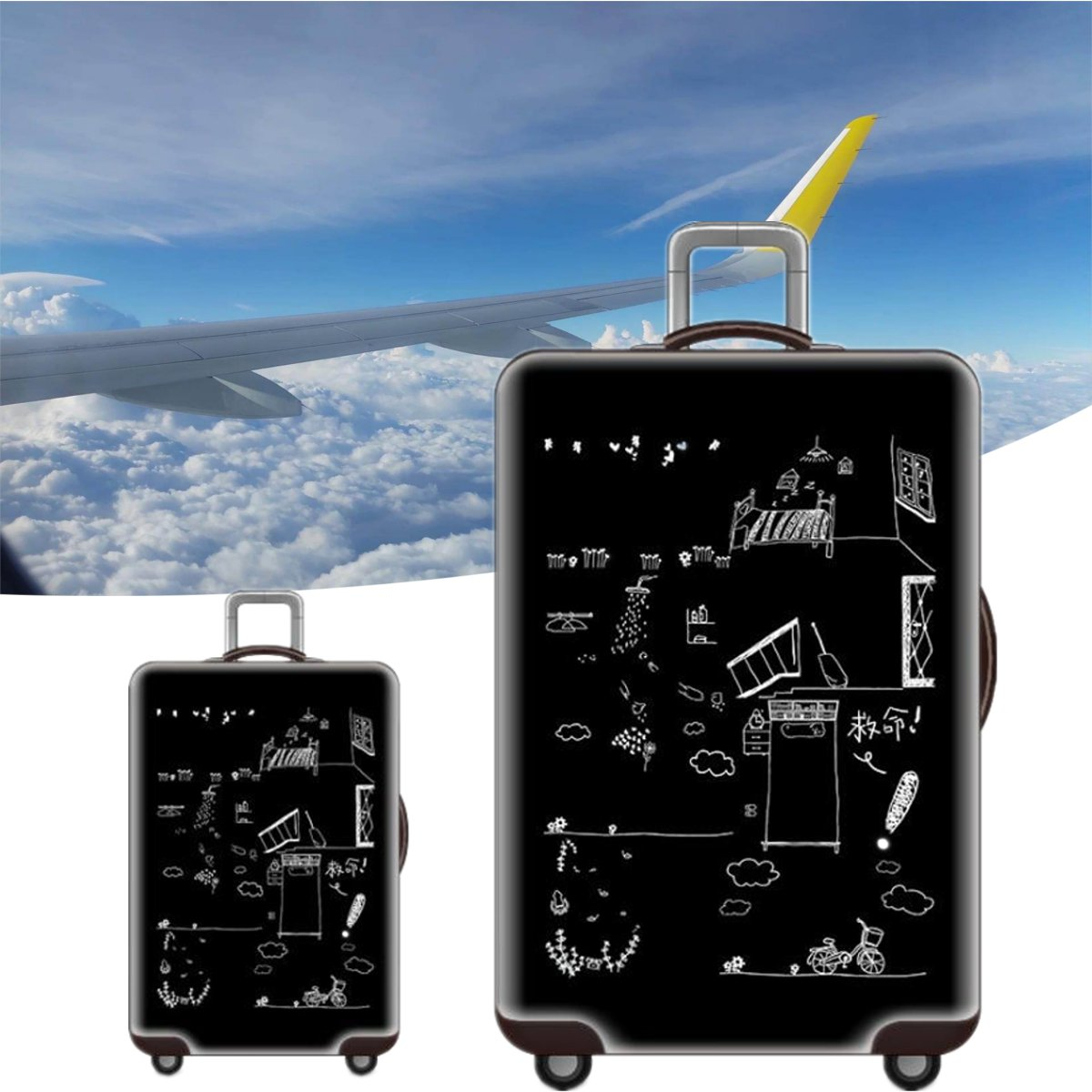 Elastic Luggage Cover Travel Suitcase Protector Dustproof Case Protection