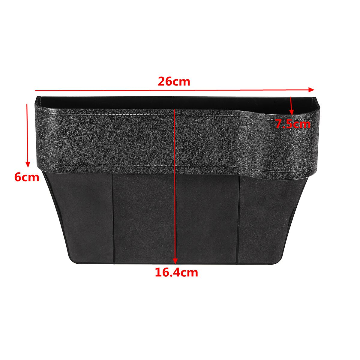 ABS Right Side Car Seat Crevice Gap Storage Box Drink Holder Pocket Coin Organizer