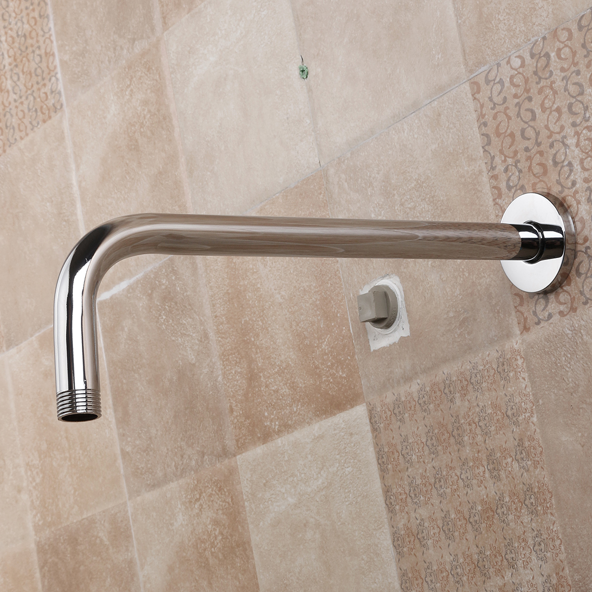 Stainless Steel Shower Extension Arm Home Bathroom Wall Mounted Shower Head Pipe