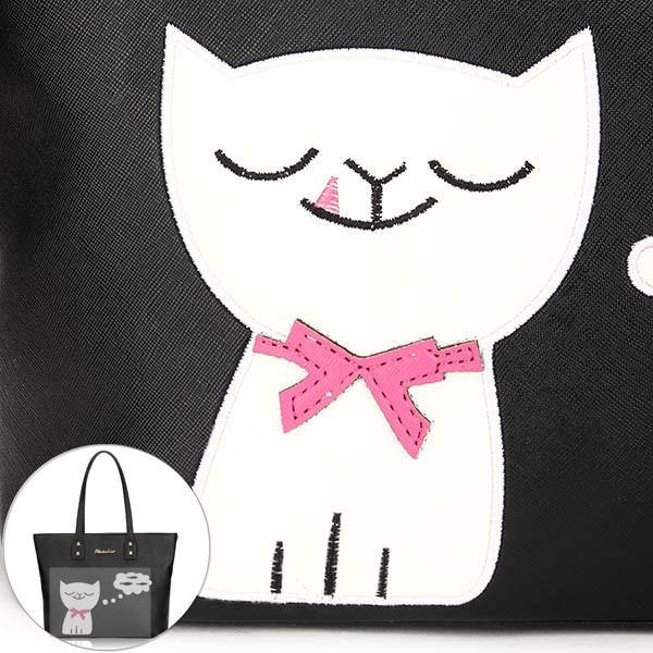 Women Cute Cat Tote Bags Girls Cute Fish Shoulder Bags Shopping Bags