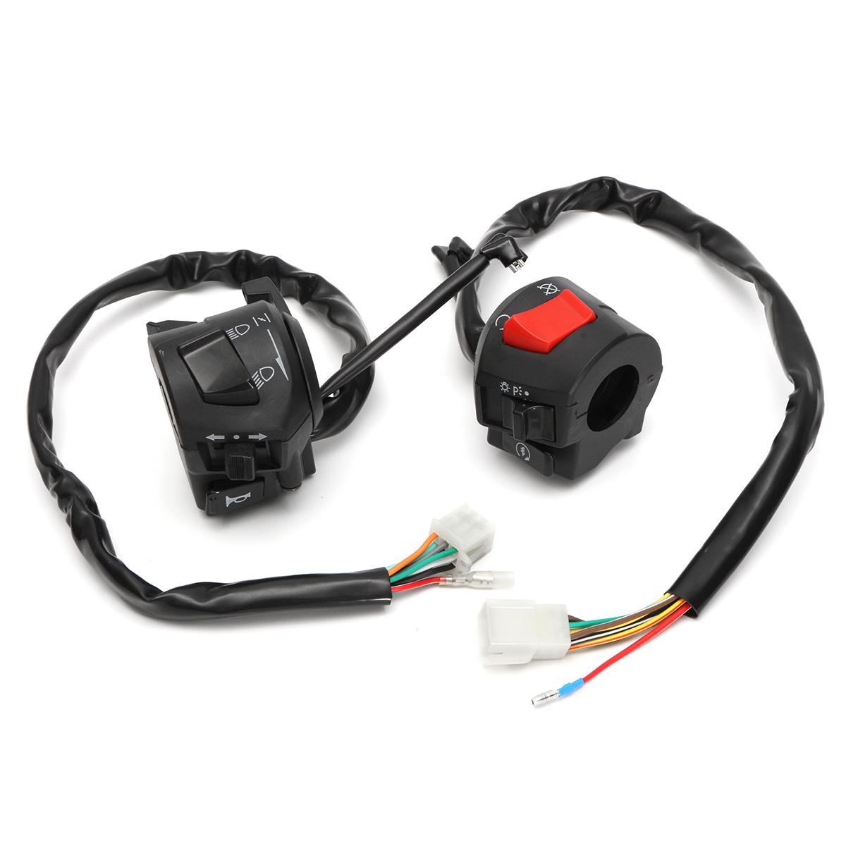 12V 7/8inch Motorcycle Handlebar Horn Turn Signal Headlight Control Start Switch
