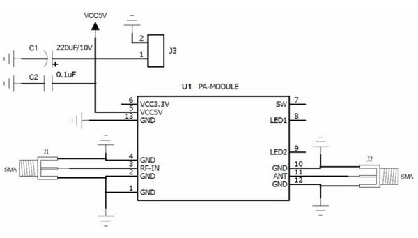 Lantian LT 2.4G DIY FPV 3-15V Range Amplifier for Radio Transmitter Support Wifi Signal Extender