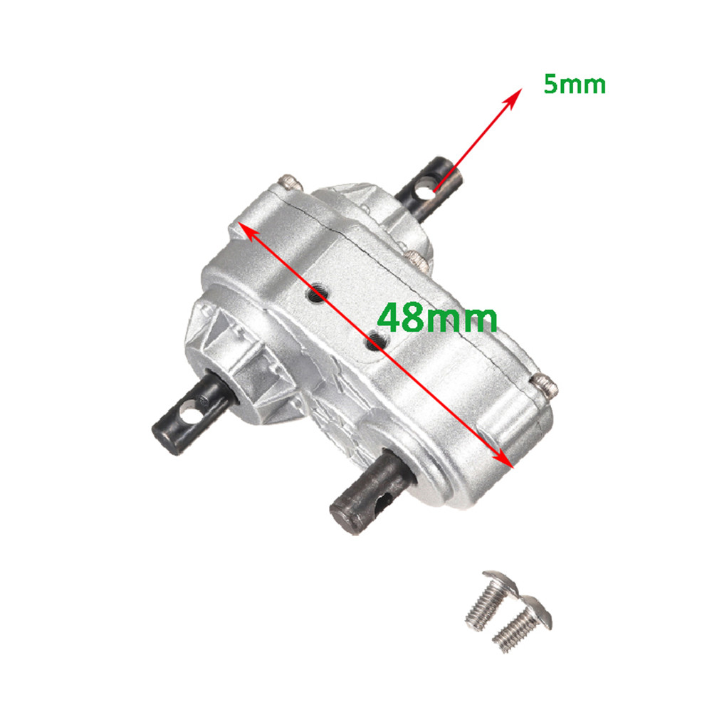 CNC Metal Silver 48mm Transfer Case for 1/10 Crawler D90 SCX10 RC4WD Rc Car Parts