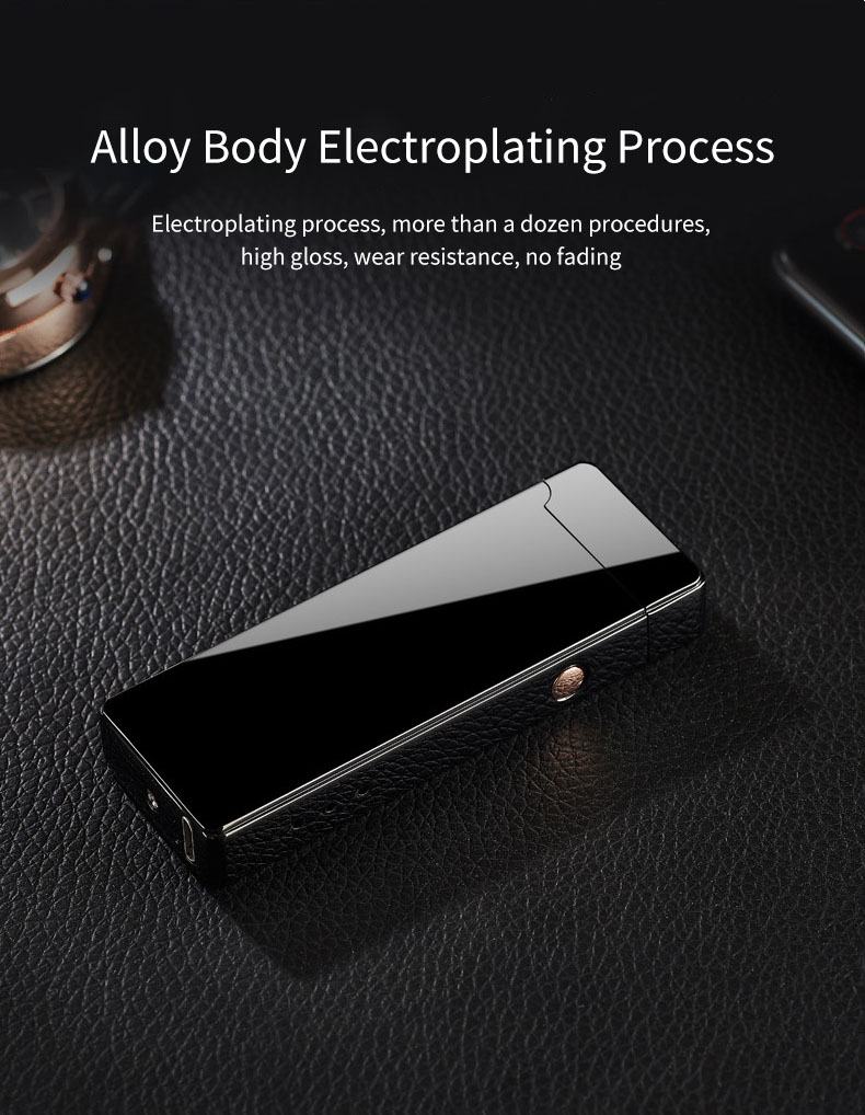 12th Anniversary VIP Special Edition USB Electric Double Arc Lighter Rechargeable Windproof Torch Lighter Dual Thunder Pulse Cross Plasma Lighter