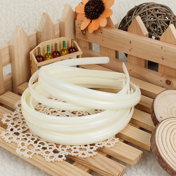 12Pcs White Plain Fashion Ladies Hair Band Headbrand Hair Ac