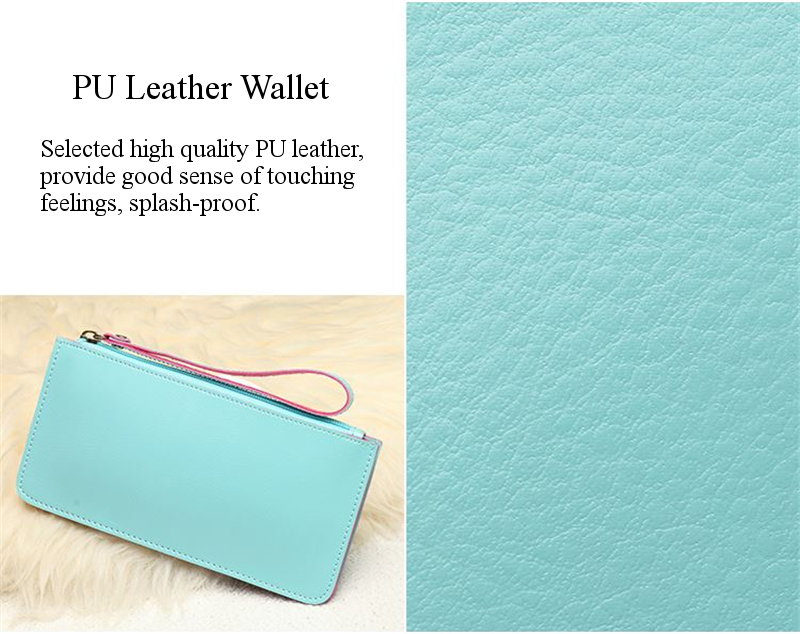 Multi-layer PU Leather Hanging Stripe Lanyard Colorful Phone Wallet Purse for Phone Under 5.5-inch