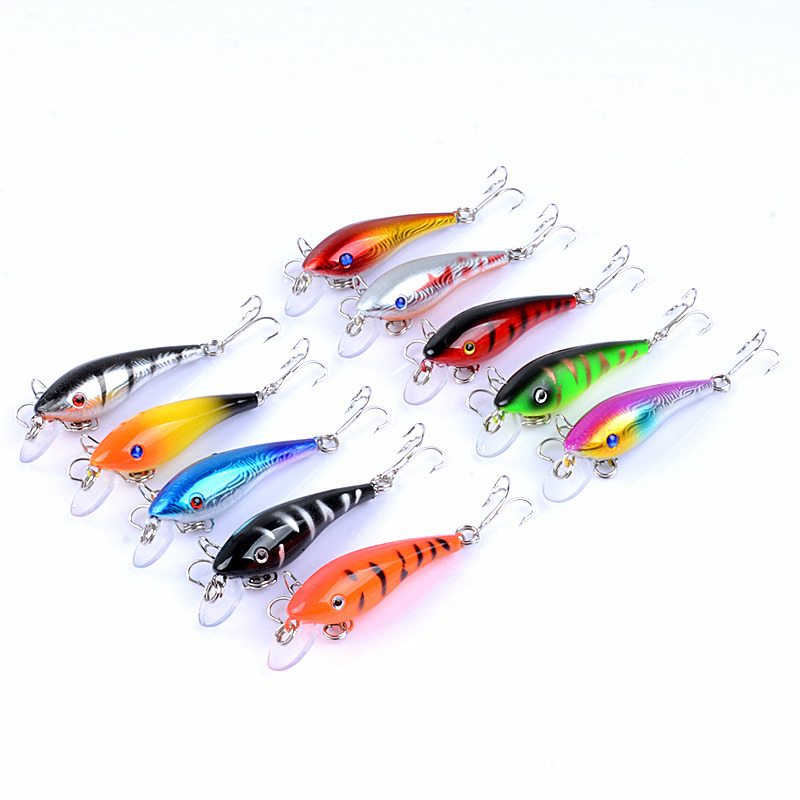 ZANLURE 10pcs/set 5.7cm 4.4g Minnow Fishing Lure 0.3m--
