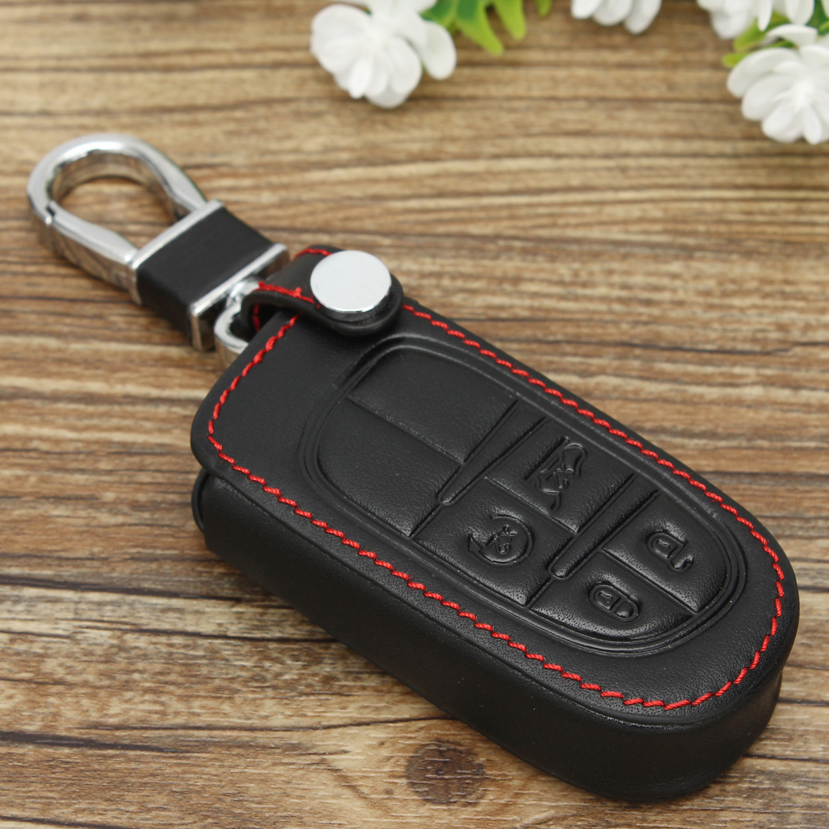 New Key Case Cover Fit For Jeep Grand Cherokee Remote Smart Key 4 Button 3 5