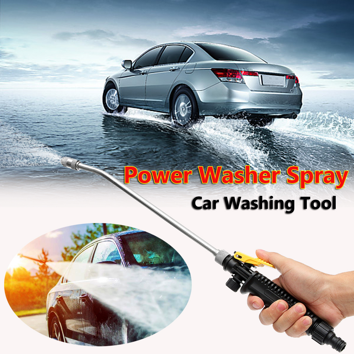 45cm High Pressure Power Washer Spray Car Bend Washing Water Gun Tool