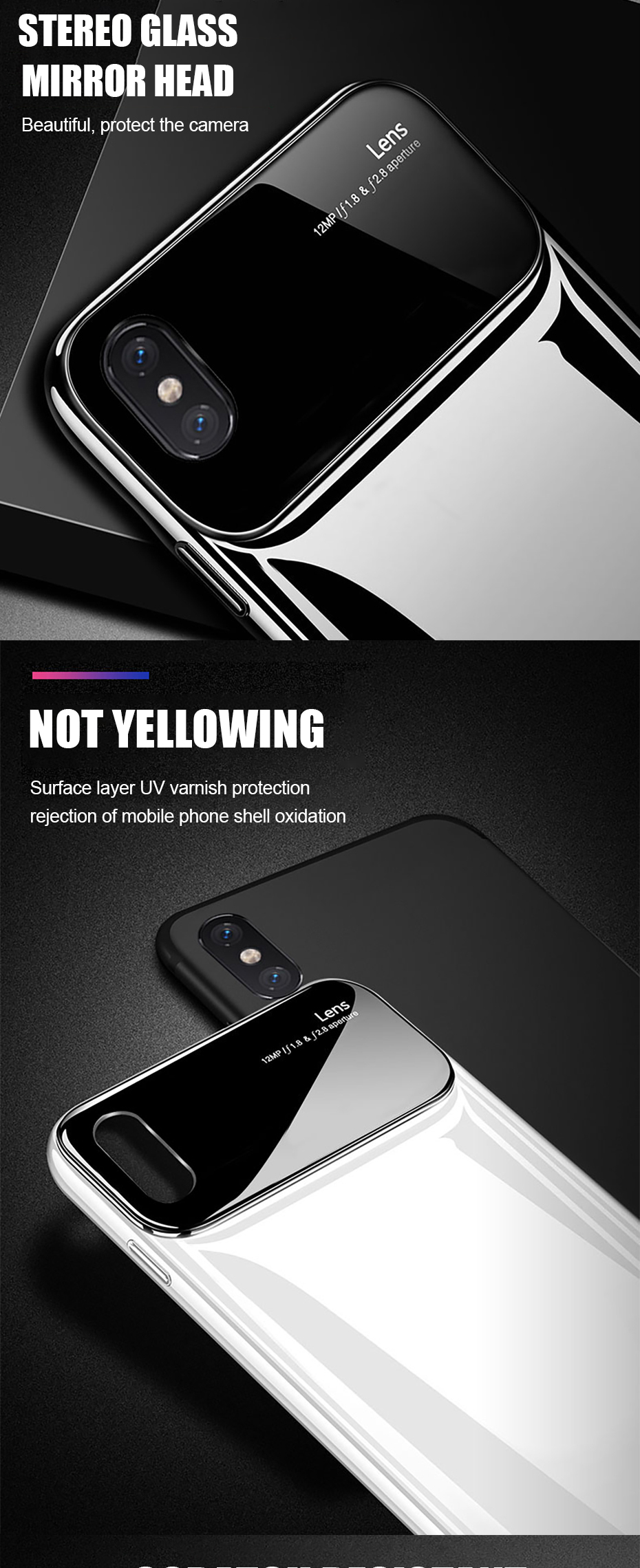 Bakeey 360º Rotation Ring Grip Kickstand Tempered Glass Lens Protection PC Protective Case For iPhone X/XR/XS/XS Max