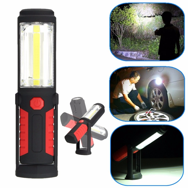 Super Bright COB LED Camping Work Inspection Light Hand Torch Magnetic Lamp