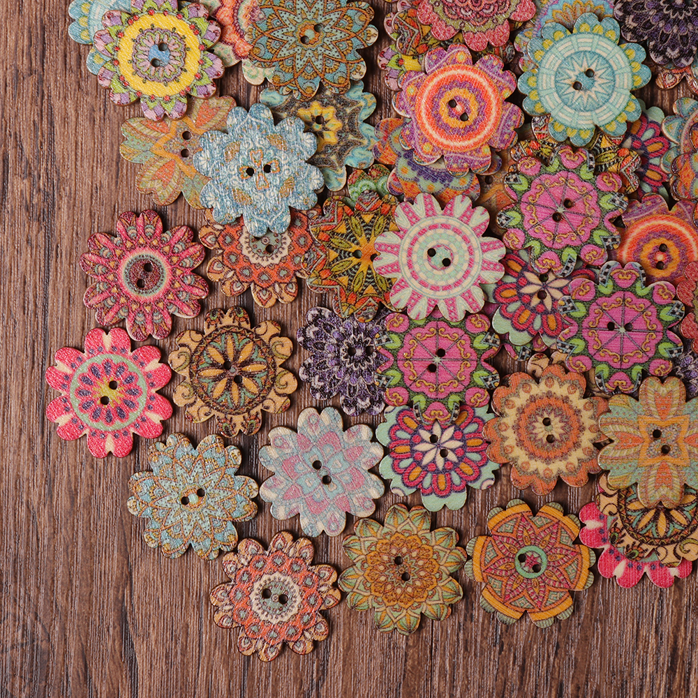 Antique Bohemian Style Buttons Scrapbooking Crafts Handmade Home Decoration Sewing Supplies