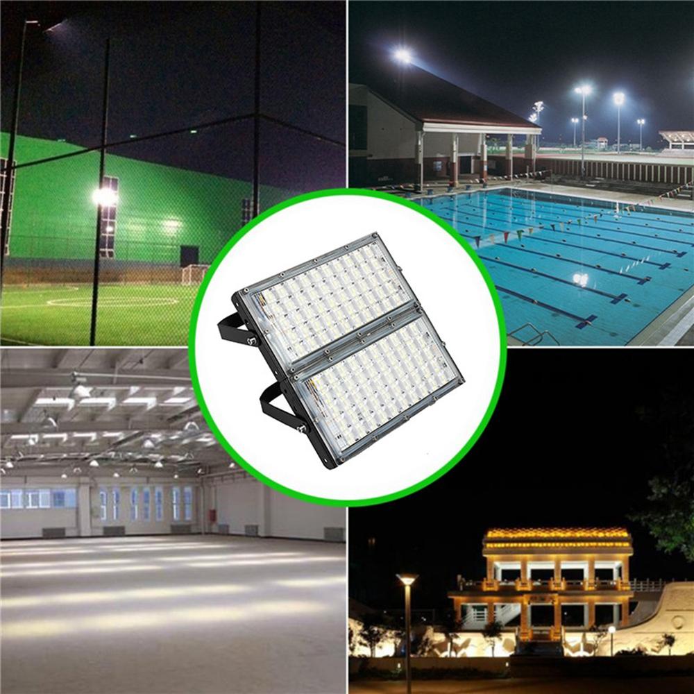 100W 100 LED Flood Light IP65 Waterproof Outdoor Super Bright Security Light AC185-265V
