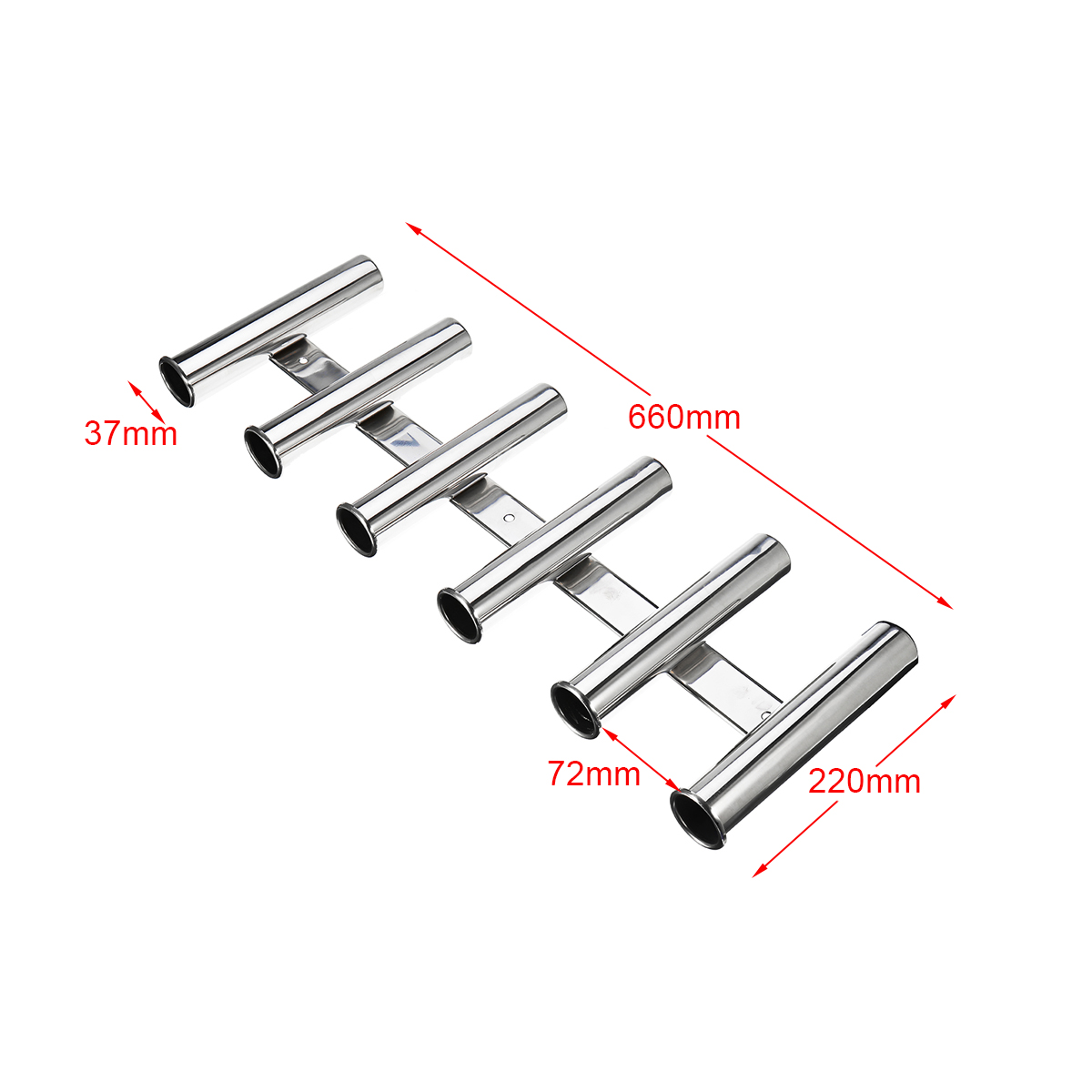 Fishing Rod Holder Stainless Steel Rack 6 Tubes For Marine Boat