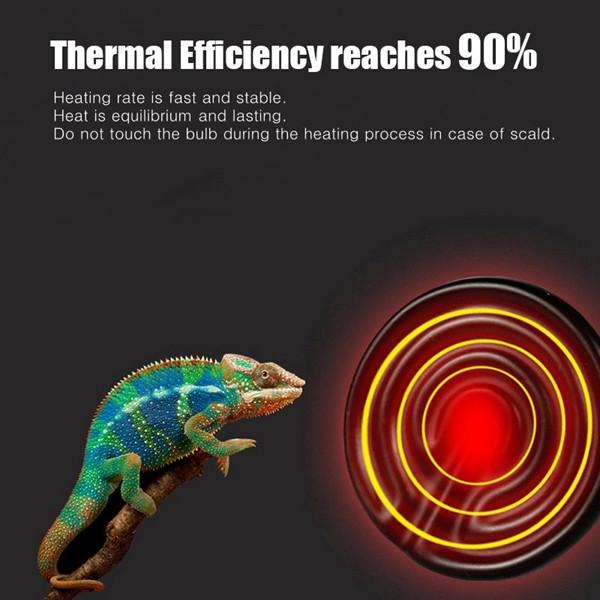 Diameter 80MM White Infrared Ceramic Emitter Heat Light Lamp Bulb For Reptile Pets Brooder AC220V