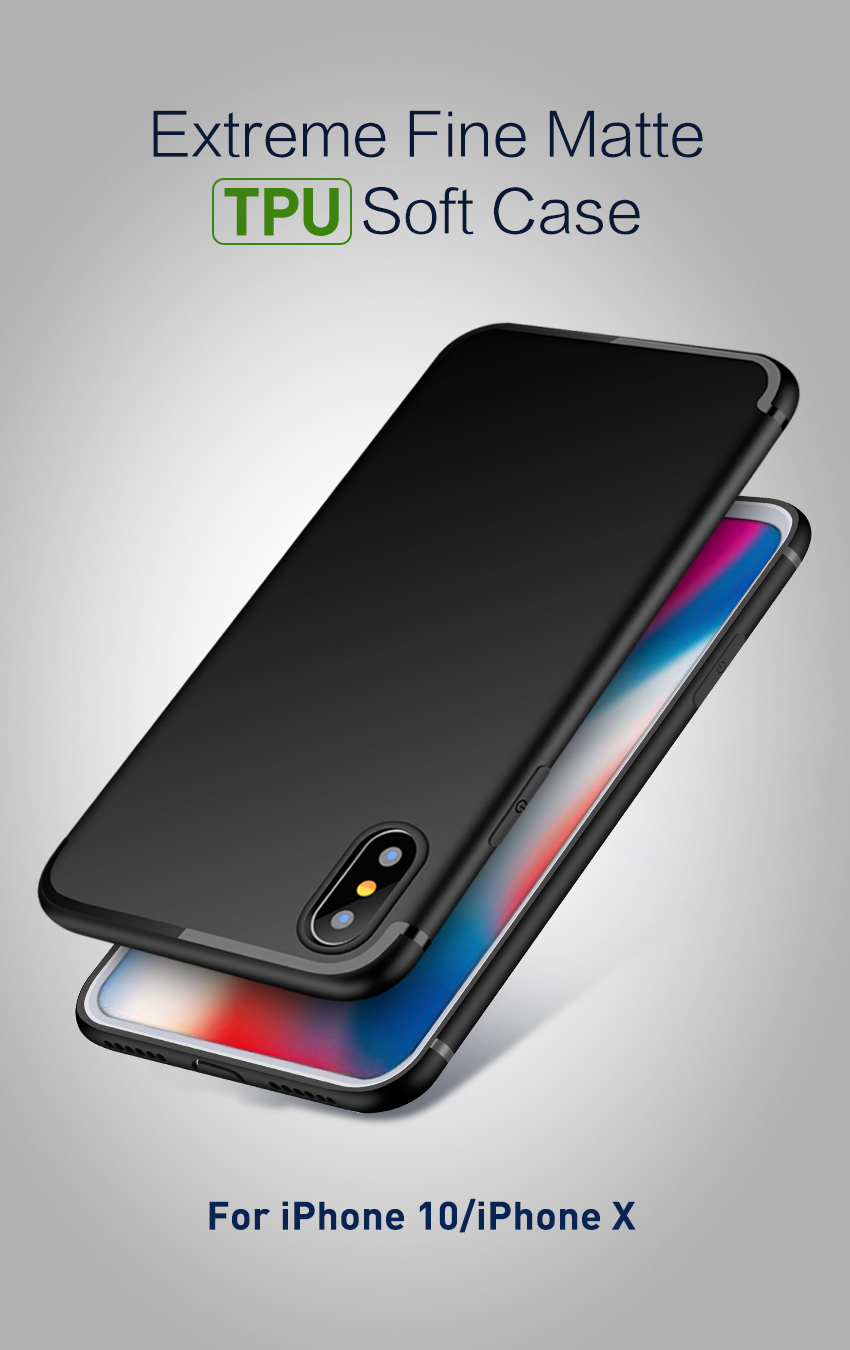 Bakeey™ Ultra Thin Soft TPU Silicone With Dust Plug Case for iPhone X