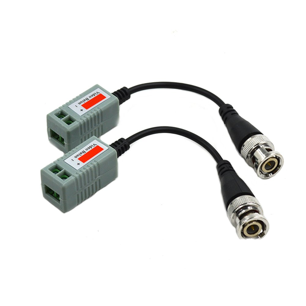 1 Pair Passive Video Transmitter With Twisted-pair Cable and BNC Plug Compatible AHD CVI TVI - Photo: 2