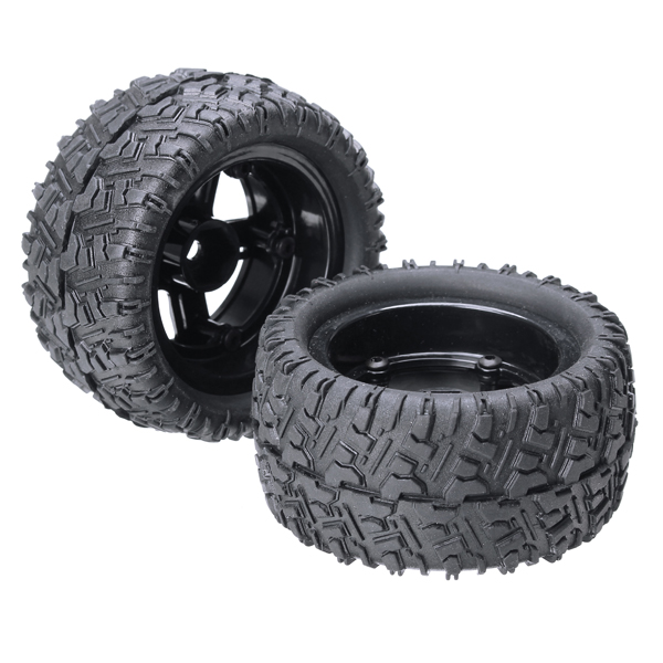 2PCS REMO 1/16 P6973 Rubber Tires Assembly For Desert Buggy Truck Rc Car Parts