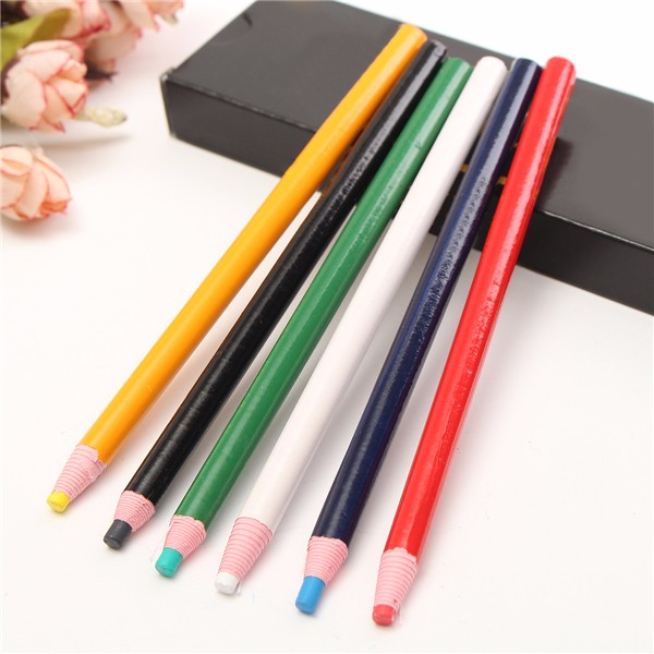 12 Pcs Marker Peel Off Chinagraph Grease Wax Pencil Smooth Writing School Office Supplies