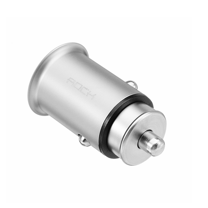 Rock Dual USB 4.8A 5V Metal Car Charger for Mobile Phone Tablet Personal Computer