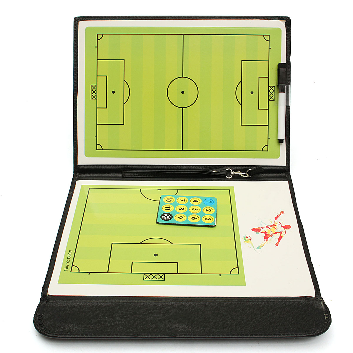Magnetic Training Football Coaching Board Folder Tactical Kit Soccer Sports