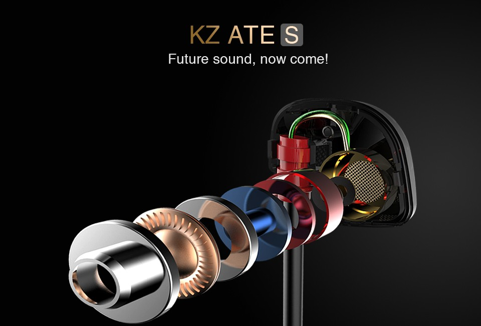 KZ ATE S HIFI Dynamic Stereo Super Bass Noise Canceling Sport In-ear Headset Headphone with Mic