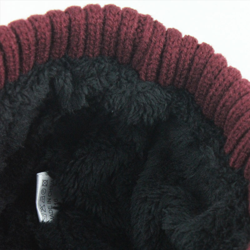 Outdoor Winter Plus Velvet Knit Hat Scarf Set Earmuffs Cap