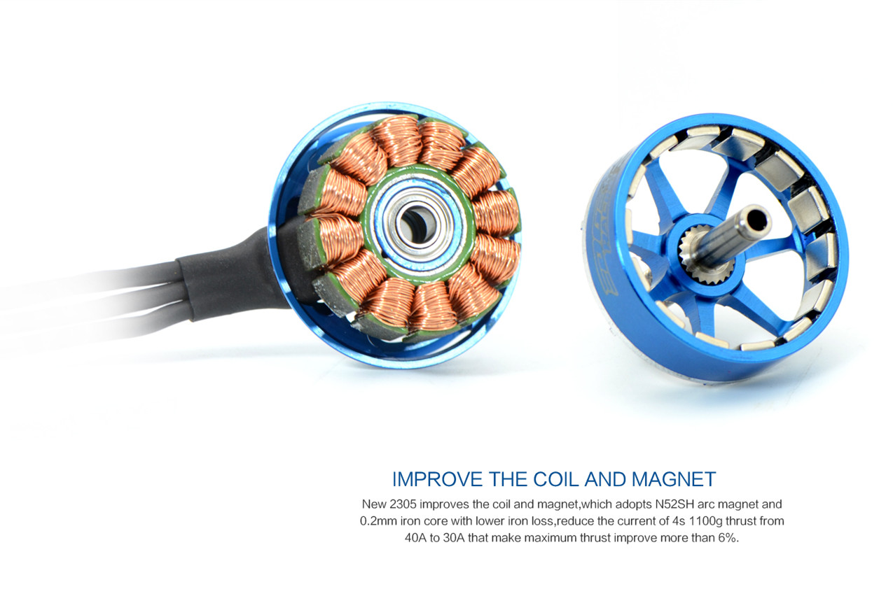 SunnySky Edge R2305 2300KV 2480KV 2800KV Brushless Motor Blue for RC Drone FPV Racing