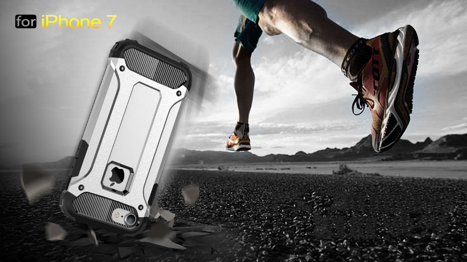 Armor Hybrid TPU PC Shockproof Case For iPhone 7/iPhone 8