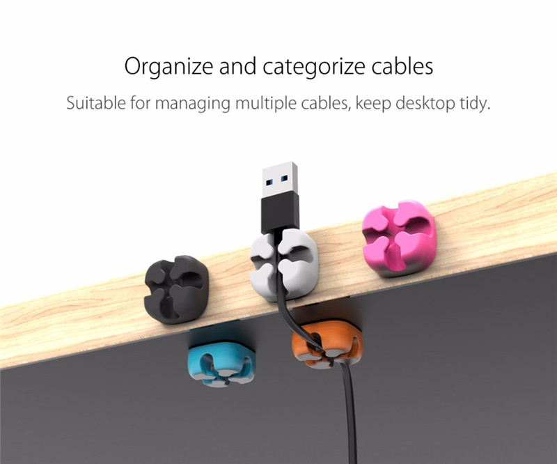 ORICO CBSX Cross Shape Desktop Cable Clip Winder Wire Holder Cable Cord Organizer Management System