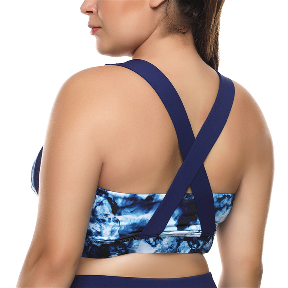 Bannggood 3XL Printed Soft Breathable Running Back Cross Yoga  Sports Bra