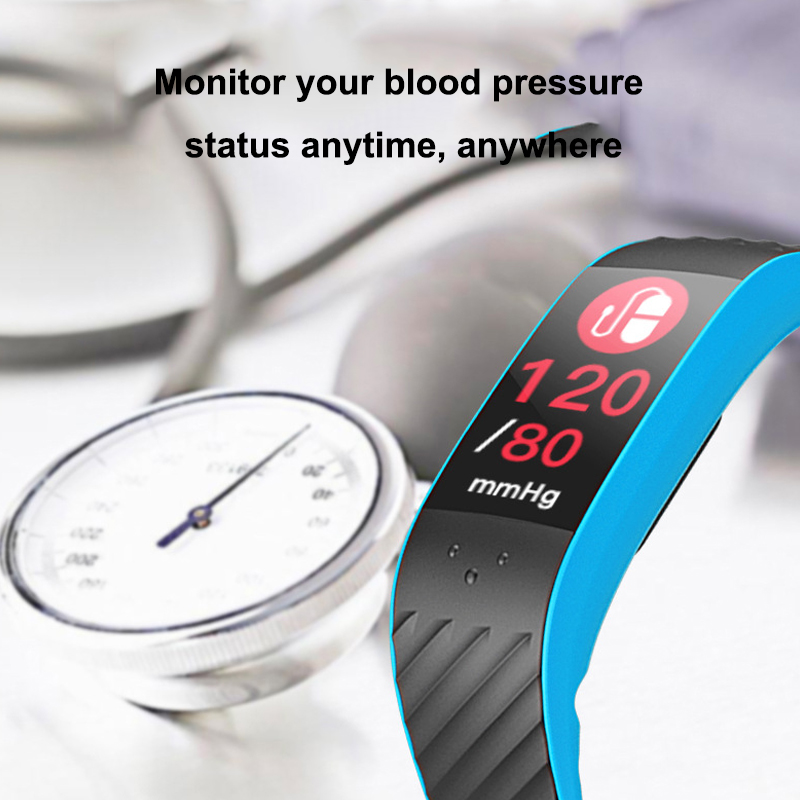 P4 bluetooth Upgraded Version Heart Rate Blood Pressure Monitor Smartband for Mobile Phone