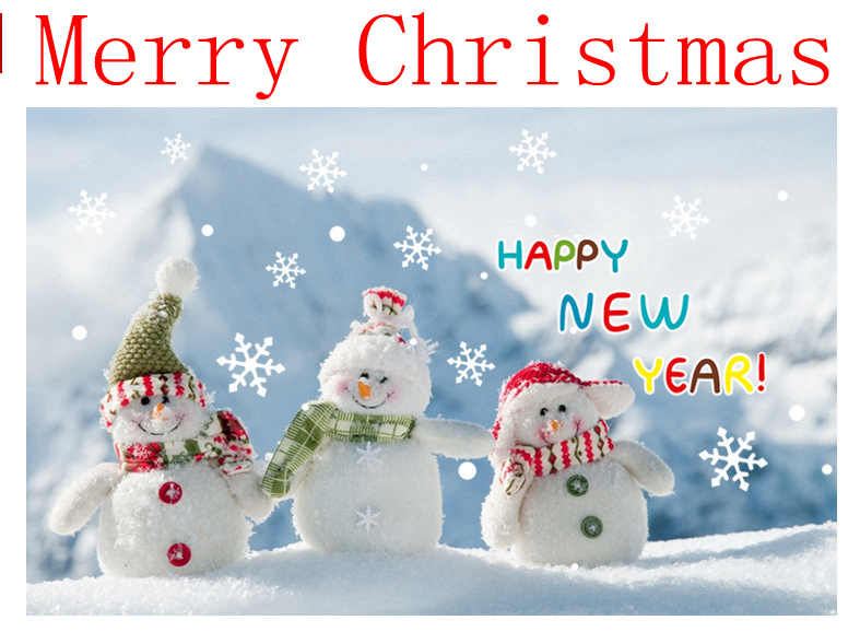Christmas Glass Decorative Wall Stickers Can Remove Pearl Stickers