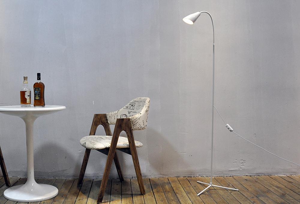 Modern 7W White & Warm White LED Floor Lamp Dimmer USB Desk Reading Light Fixture for Bedroom Decor