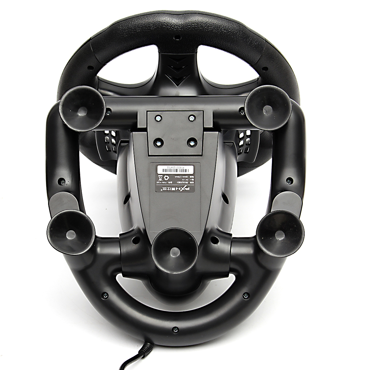 PXN-V18S Illusiveness Computer Card USB Wired Vibration Motor Racing Game Steel Ring Wheel For PC Game