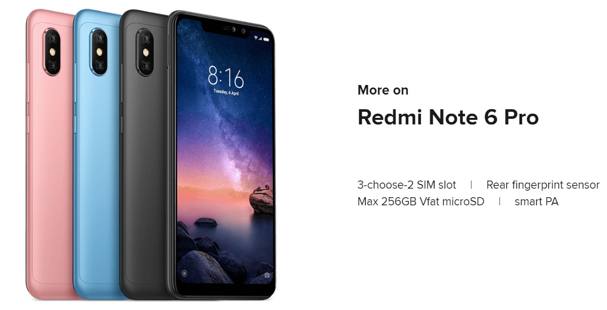 Xiaomi Redmi Note 6 Pro Global Version 6.26 inch 3GB 32GB Snapdragon 636 Octa core 4G Smartphone